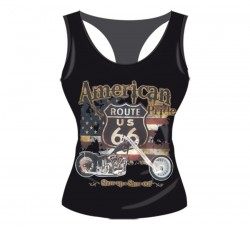 CAMISETA MUJER AMERICAN ROUTE 66