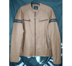 CHAQUETA POLIPIEL MARRON