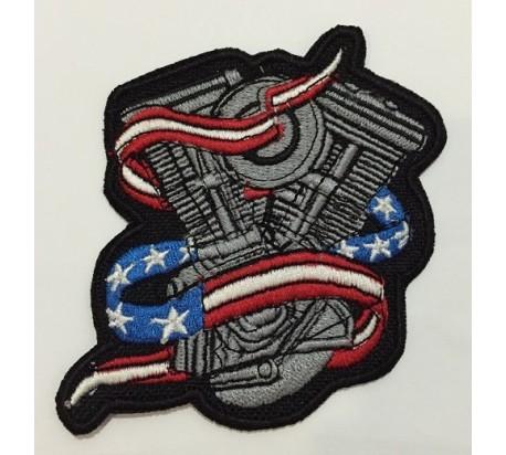 Parche motor bandera america