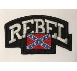 Parche rebel con bandera