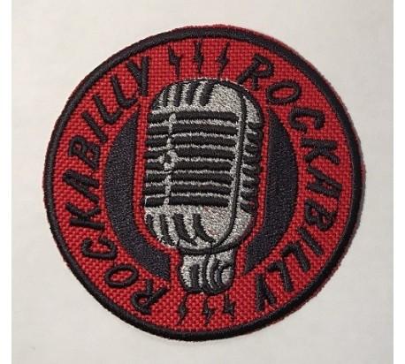 Parche rockabilly micro rojo