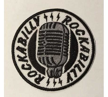 Parche rockabilly micro blanco