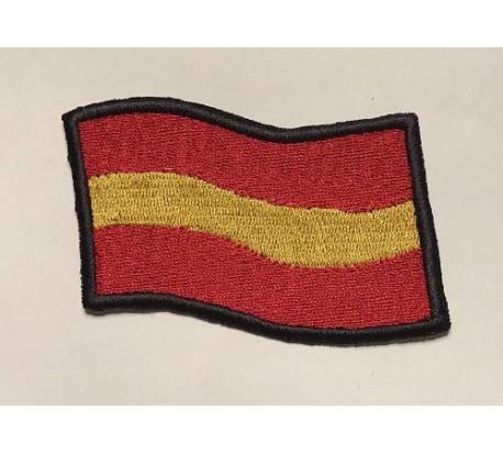 Parche bandera españa ondeante