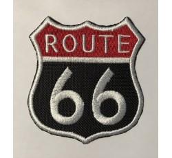Parche route 66 rojo y blanco
