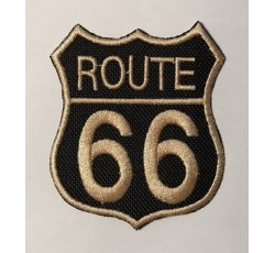 Parche route 66 rojo y negro