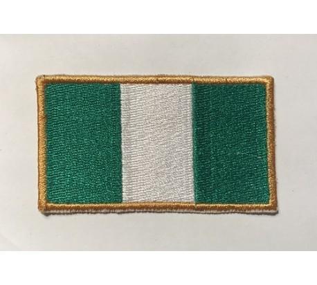 Parche bandera nigeria